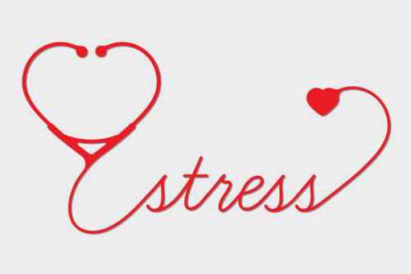 Medical stress symbol, cardiogram,  vector